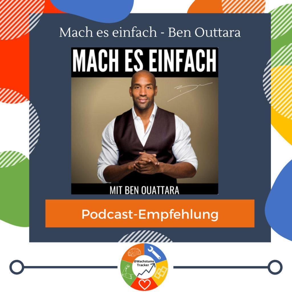 Podcast-Empfehlung - Mach es einfach - Ben Outtara - Cover